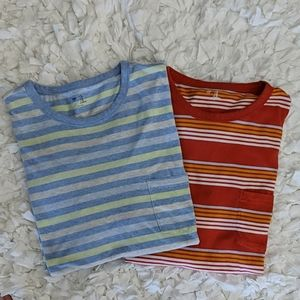 2 GAP Pocketed T-shirt Striped Tops Size XL